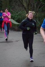 lucy parkrun 3 jan finishing 50th run