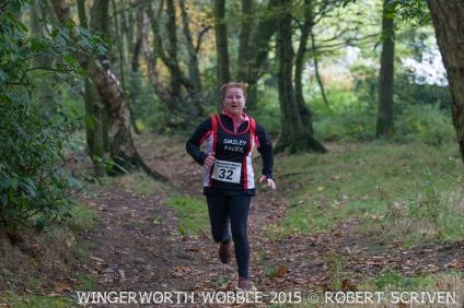 me running in woods
