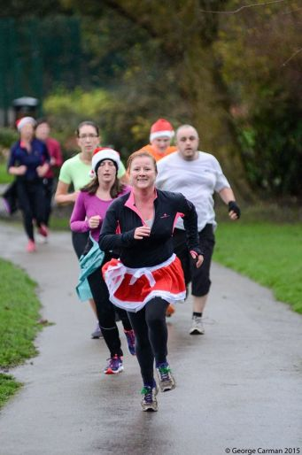 concord parkrun finish christms day 2015