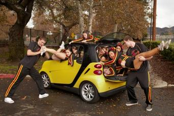 most people in smart car