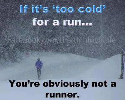 too cold for a run running bible
