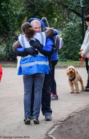 volunteers feeling the love at parkrun