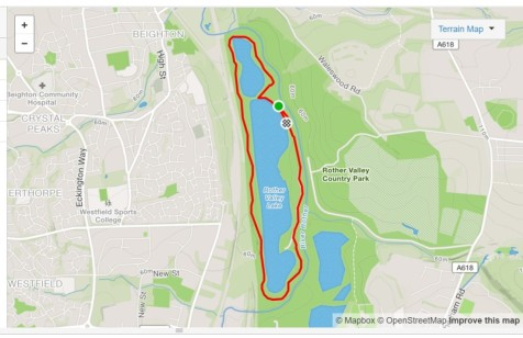rother valley parkrun route