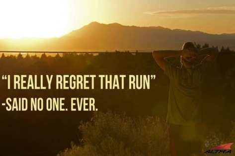 never regret a run