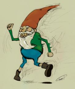 Gnome Running depicting mussorgsky's pictures from an exhibition