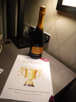complimentary champagne awaits
