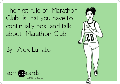 first rule of marathon club