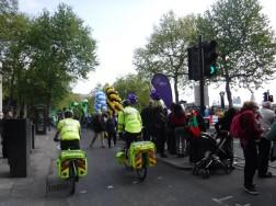 gathering paramedics