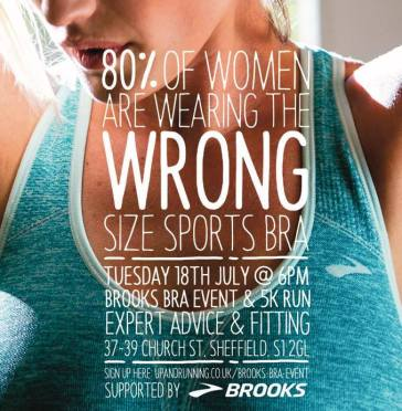 brooks bra fitting