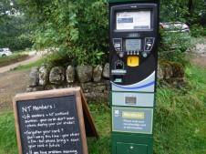 Longshaw car park ticket machine