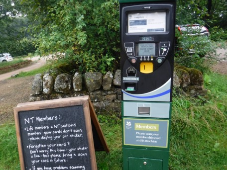 Longshaw car park ticket machine