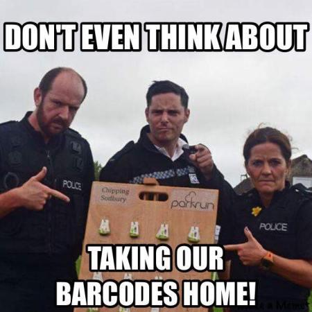 parkrun barcode ruling