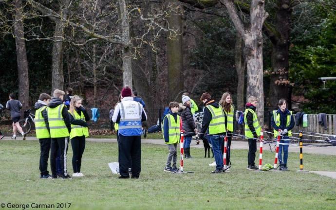 GC volunteers important huddle
