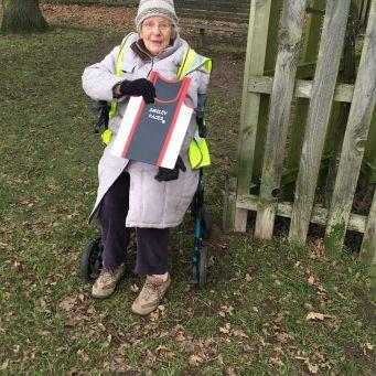Bushy parkrun 13 jan 2018 Elisabeth supports Smileys