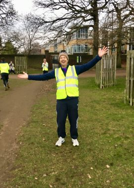Bushy parkrun 13 jan 2018 Elisabeths corner
