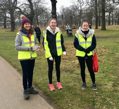 Bushy parkrun 13 jan 2018 marshals