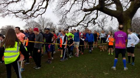 bushy parkrun finish funnel