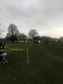 bushy parkrun finish
