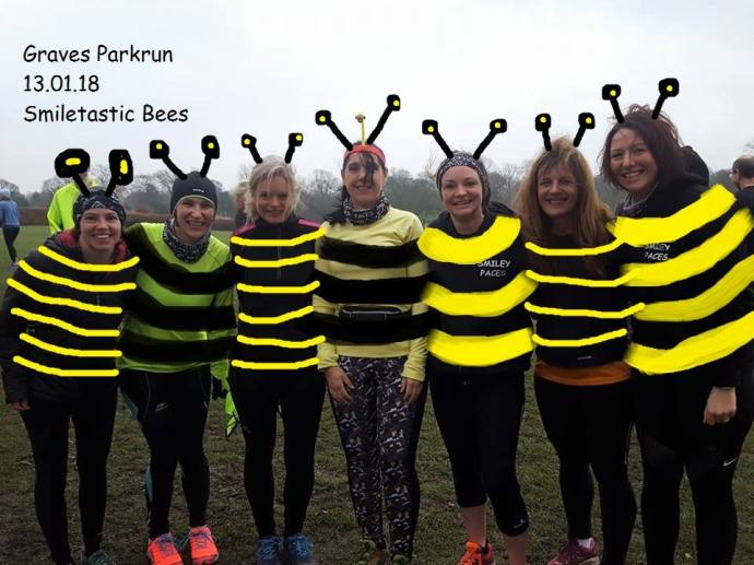 busy bees in fancy dress at Graves