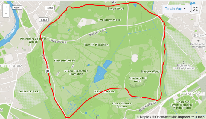 richmond park strava run