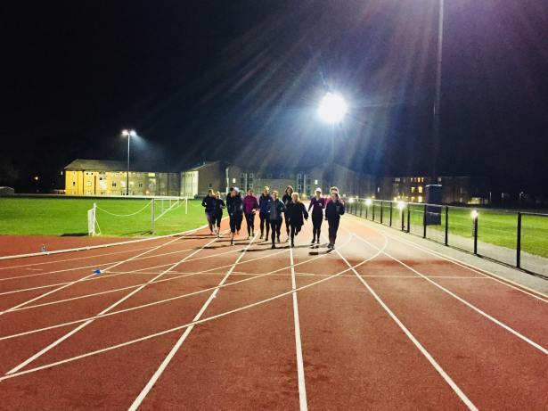 track session on fire