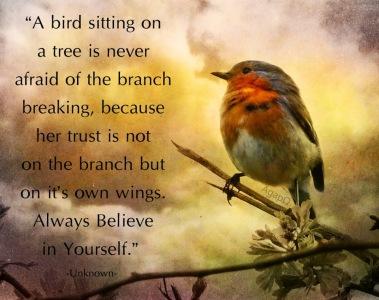 bird on tree faith