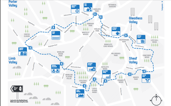 sheffield round walk map