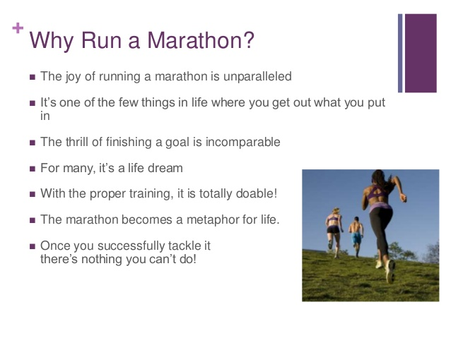 why run a marathon