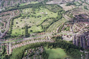 abbey lane cemetery from above