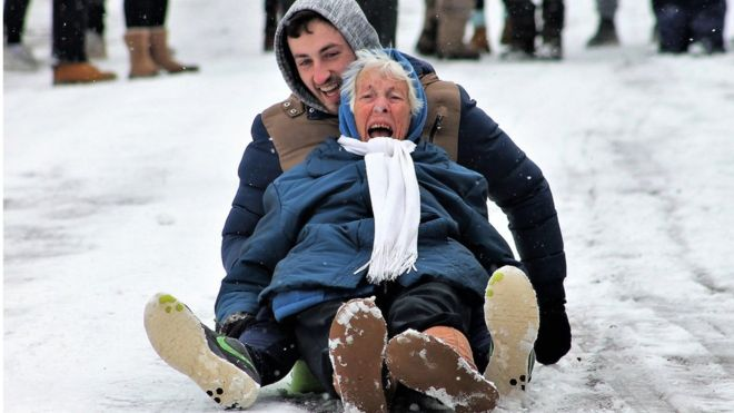 never too old to sledge
