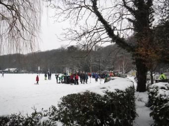 snow gathering