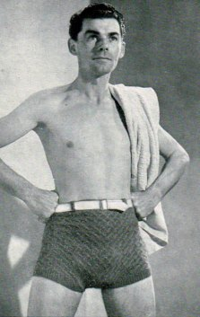 1940 crochet swimming trunks