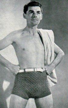 1940 crochet swimming trunks