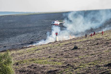 fire fighting on eastern moor