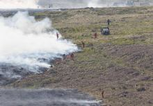 fire on eastern moor