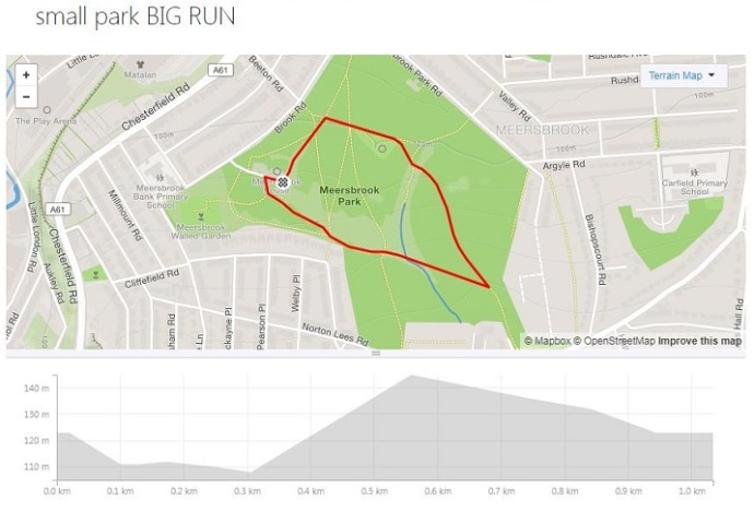 strava small park BIG RUN route