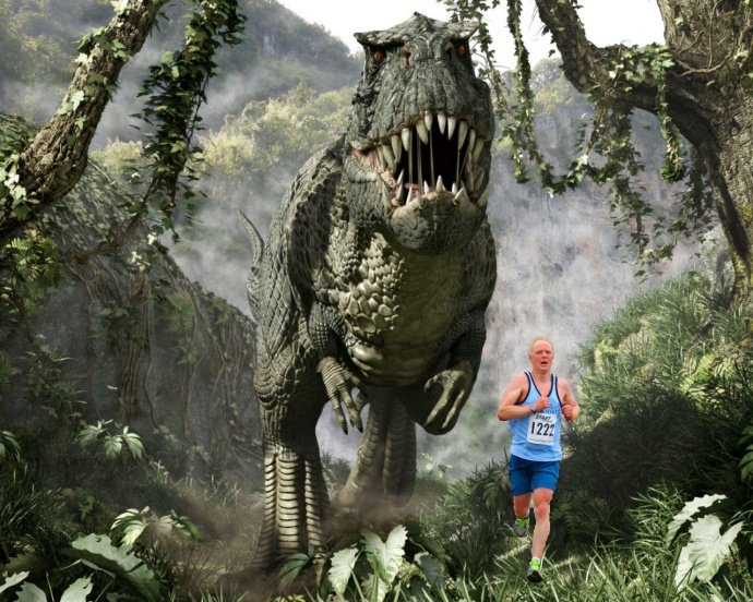 running with dinosaurs