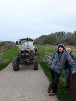 tractor on course