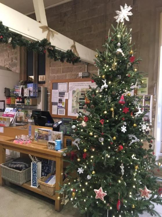Longshaw cafe christmas tree