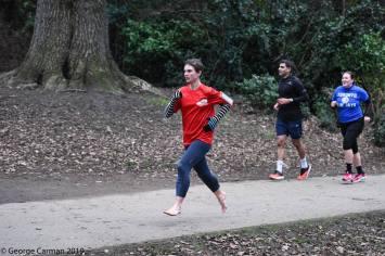 bare foot runner