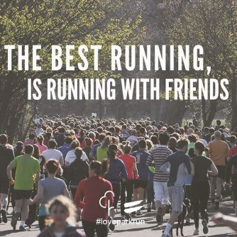 running with friends