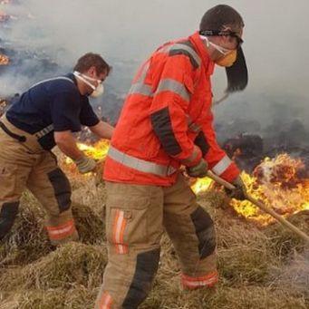 Fire at Lyme park bbc photo