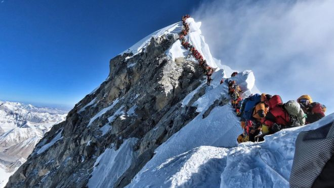 everest queue from bbc website