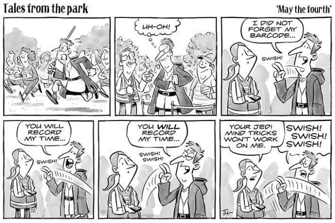 Tim michael parkrun cartoon