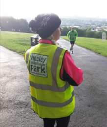 marshalling in the rain