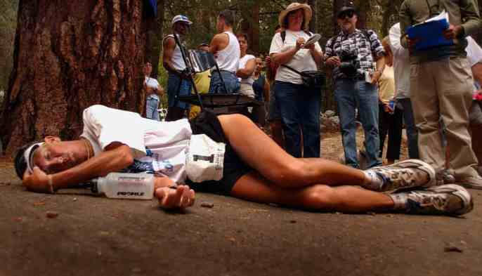 Guardian newspaper badwater winner collapsed