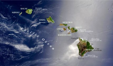 Hawaii-topographic-satellite-img-map