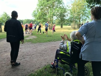 mum bushy parkrun aug 2019