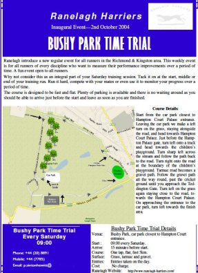 Bushy parkrun time trial